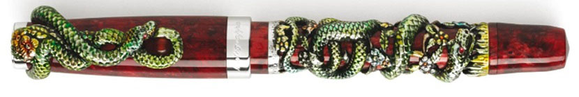 MONTEGRAPPA_2013_Limited_Edition_Limoges_Hand-Painted_Snake_Fountain_Pen