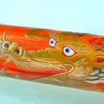 Eyes are inlay with mother of pearl on the Pilot Dragon pen