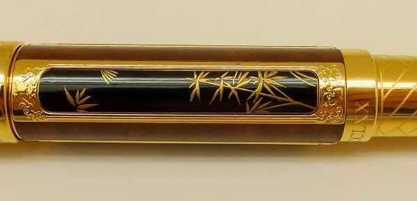 Panel view of new Graf von Faber Castell limited edition Pen of Year 2016 gold plated