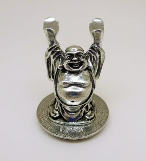 Happy Buddha, Prosperity, Pewter, Happiness