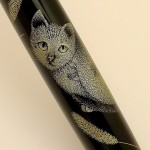 Cute face of theNamiki Yukari Royal Chinkin Cat fountain pen