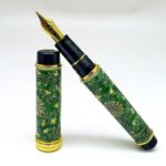21kt gold nib of Sailor Special Edition Arita Porcelain Fountain Pen Gen Emon Arabesque