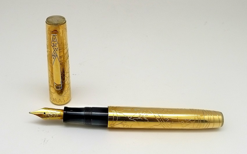 Stylish display of Omas Limited Edition Ville Lumiere Fountain Pen