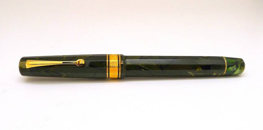Omas Limited Edition Paragon Olive Green Celluloid Fountain Pen