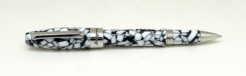 Montegrappa Fortuna Mosaico Roma Steel and White Rollerball Pen