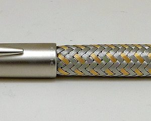 Steel and Gold Fountain Pen by Porsche Design