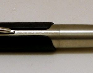 Stainless Steel with Black Leather Fountain Pen by Porsche Design