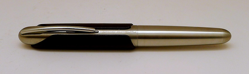 Stainless Steel with Brown Leather Fountain Pen by Porsche Design