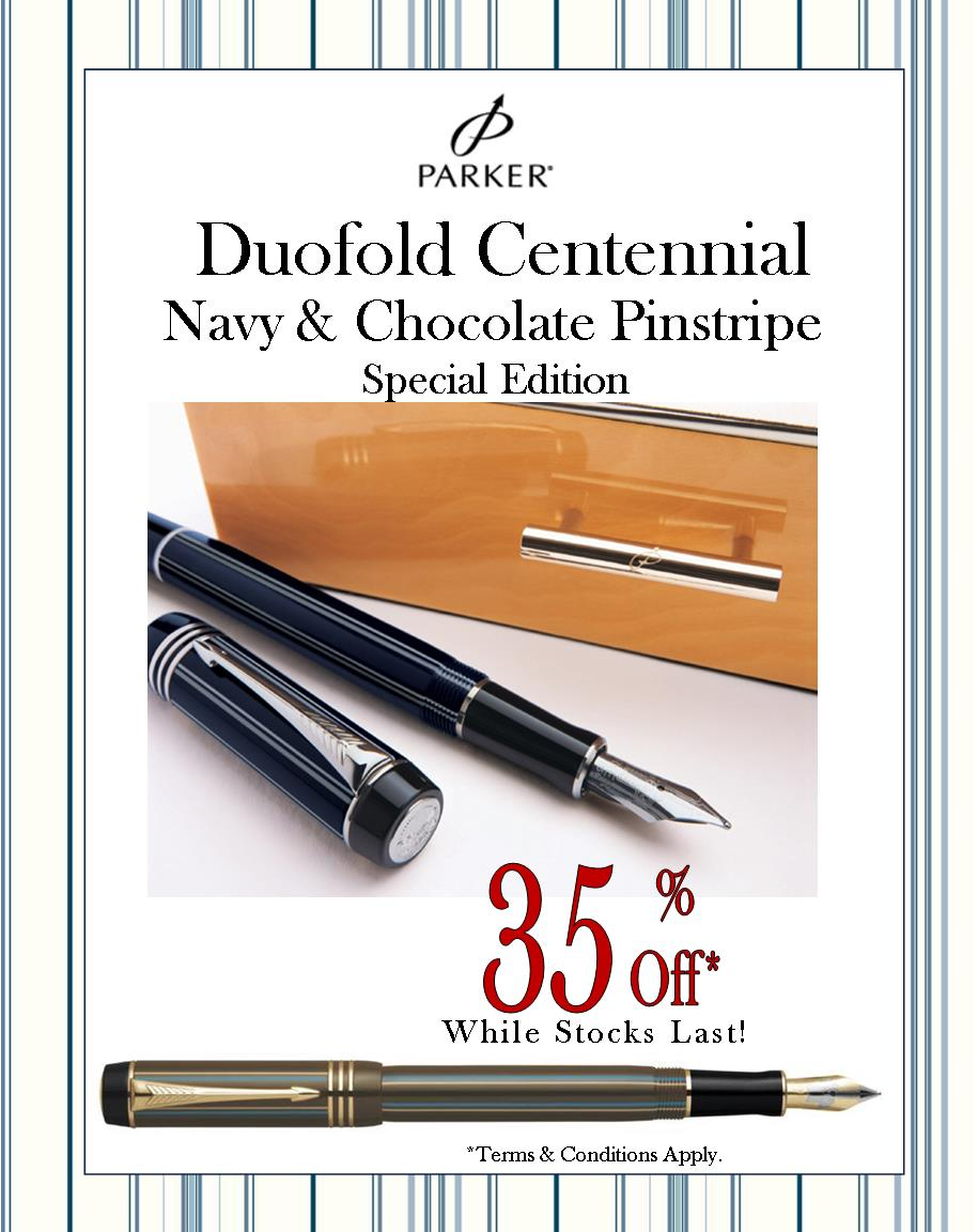 Rare Parker Duofold pens at great discount