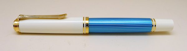 Pelikan M600 Turquoise White Fountain Pen