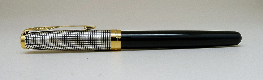 Parker Sonnet Black Silver Fountain Pen