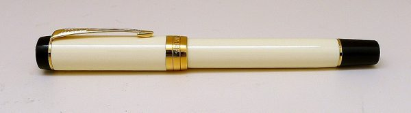 Parker Duofold Ivory Black GT Rollerball Pen