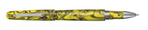 Elmo 01 Fantasy Blooms Iris Yellow Rollerball Pen